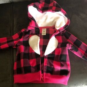 Fluffy jacket for baby girls